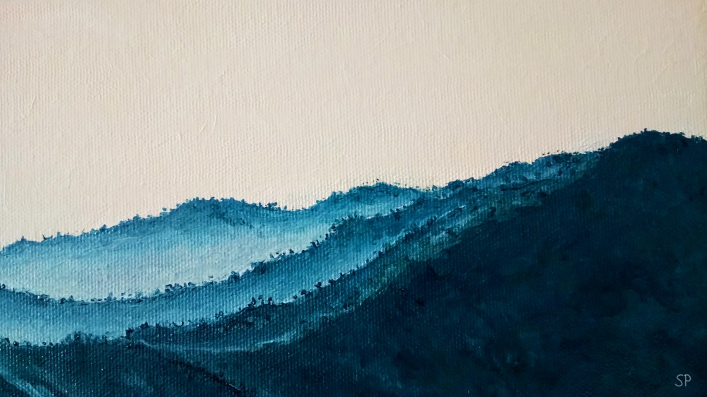 mountain chain forest detail 3