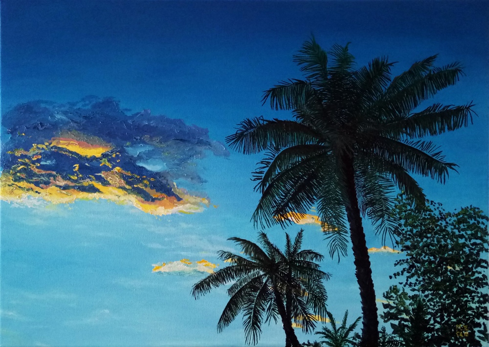 palms in the sunset cloud oil painting.jpg