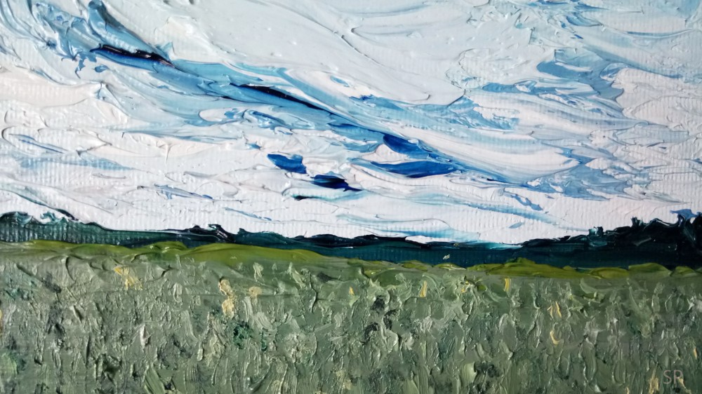 pineapple field oil painting detail 3