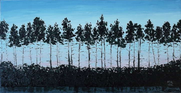 northern palms oil painting 2