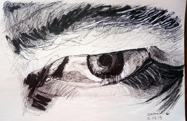 spectre eye ink drawing