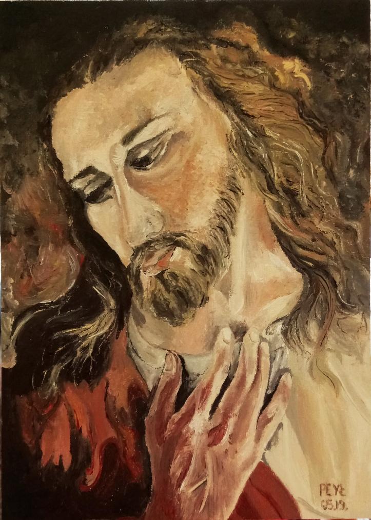 jesus brat elia oil painting