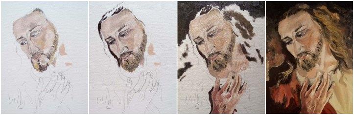 Jezus brat Elia painting steps