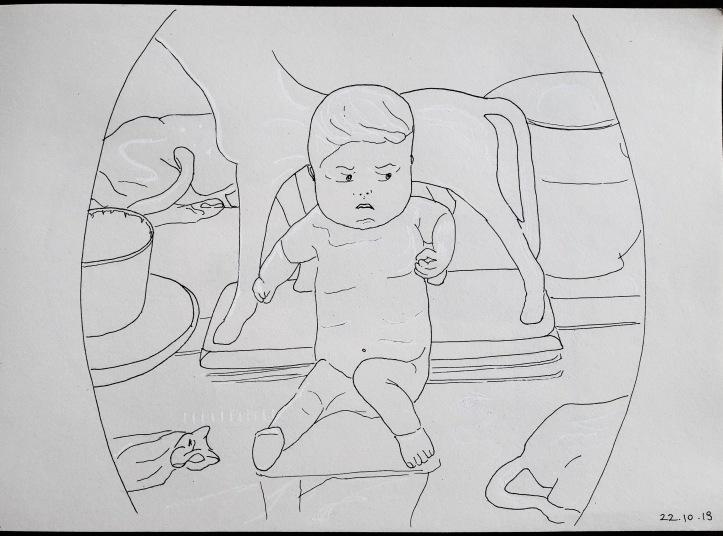 big fat annoyed babyboy ink