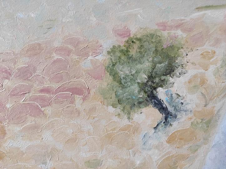 dryland closeup to the tree