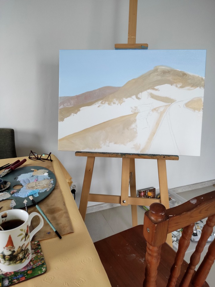 dryland painting process