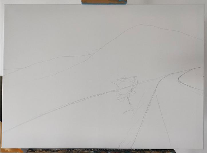 sketch on canvas