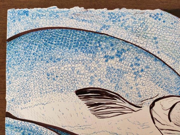 fish brown ink closeup2