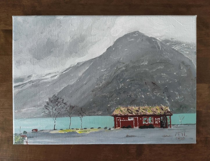 somewhere in norway oil painting